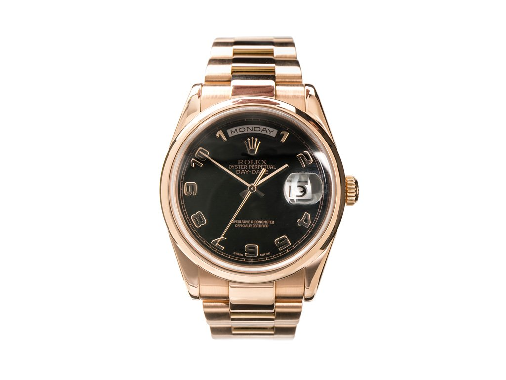 Rolex Daydate Rose Gold Oyster Bracelet