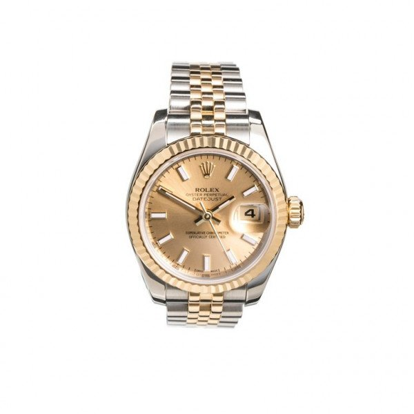 Rolex ladies steel and gold datejust