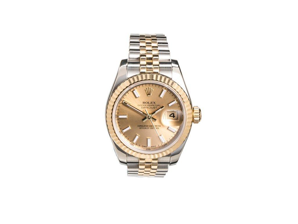 Rolex ladies steel and gold datejust