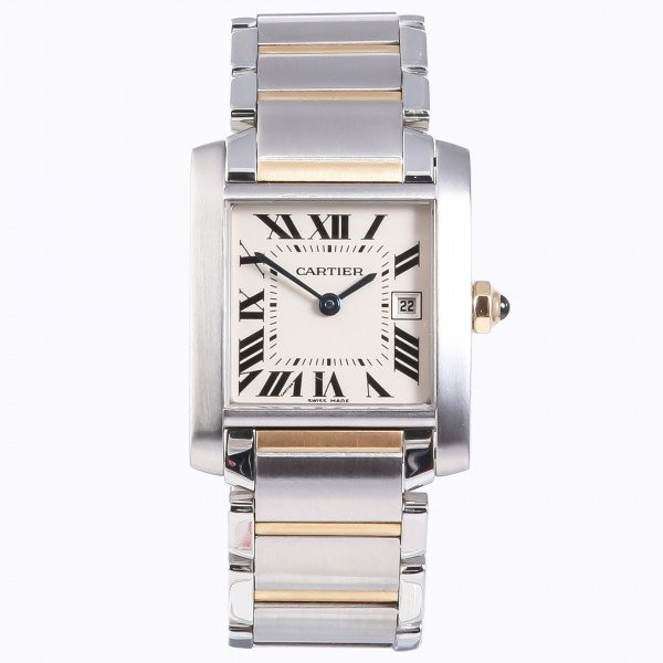 Cartier Tank Francaise Steel And Gold Mid Size